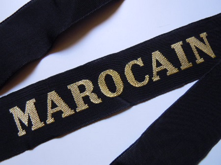 MAROCAIN 1945 RUBAN LEGENDE ORIGINAL CAP TALLY